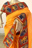 ORANGE SILK COTTON SAREE