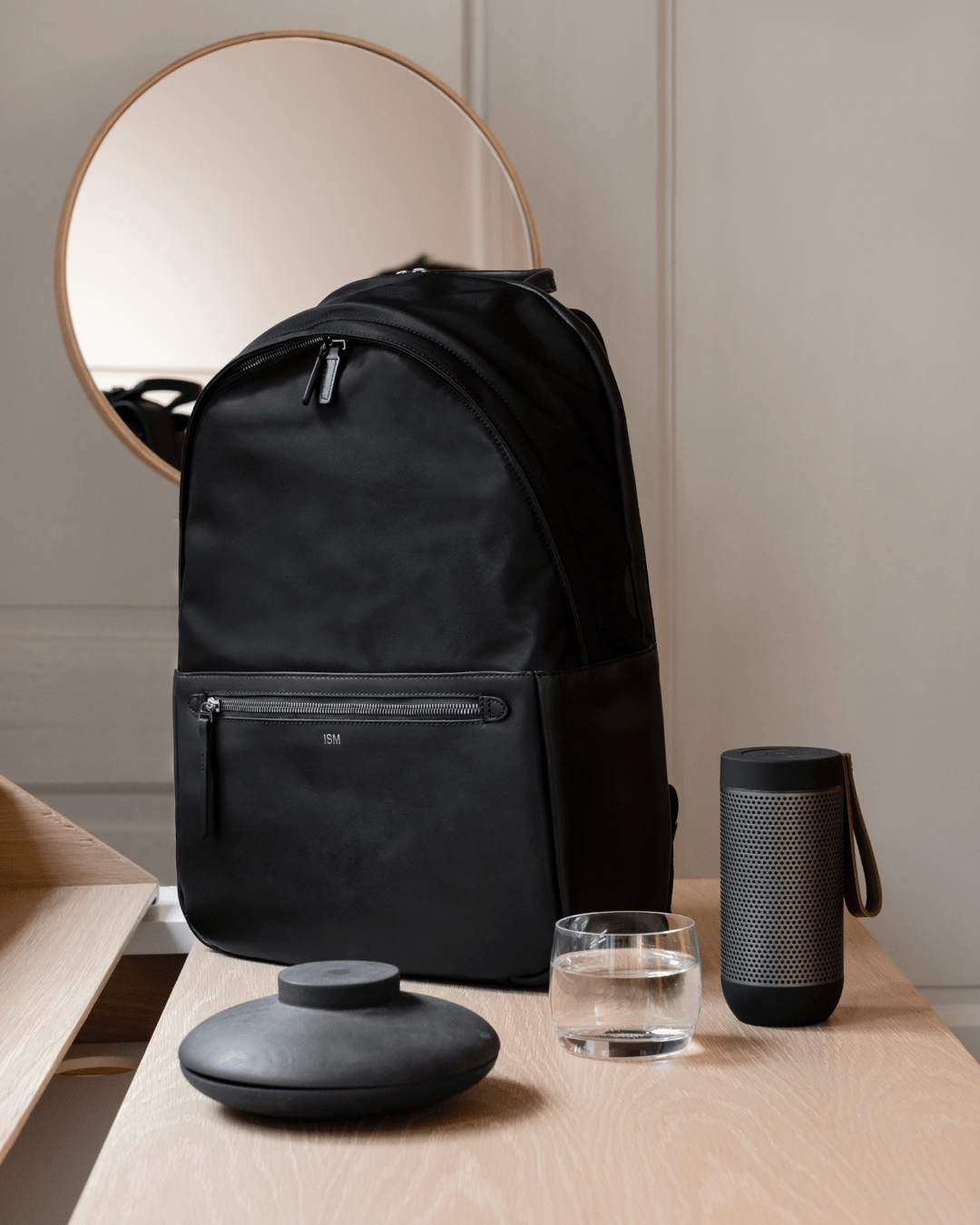 b46c76c94047 ISM  The Classic (Black) - Leather Laptop Backpack