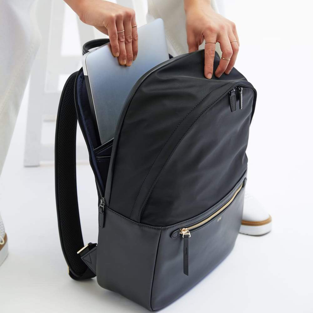 ISM Leather Laptop Backpack Black / Large The Backpack