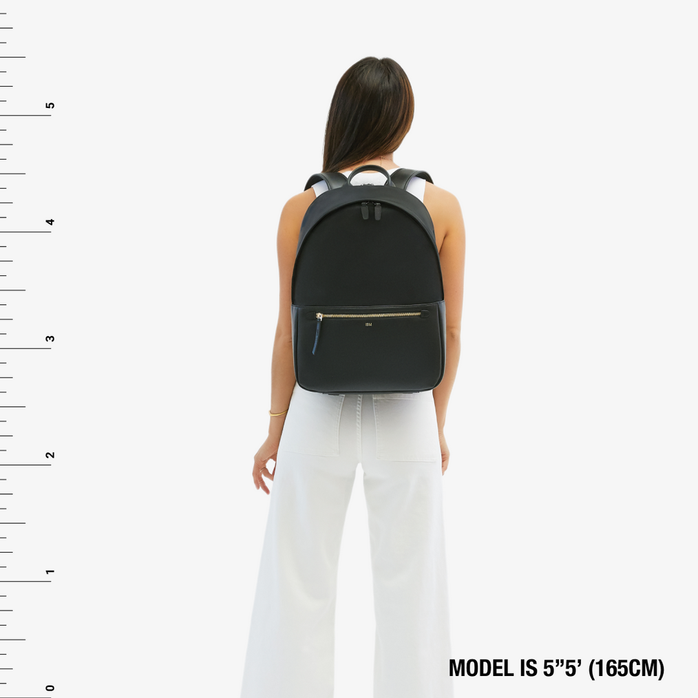 Grained Leather Classic Backpack Free Shipping