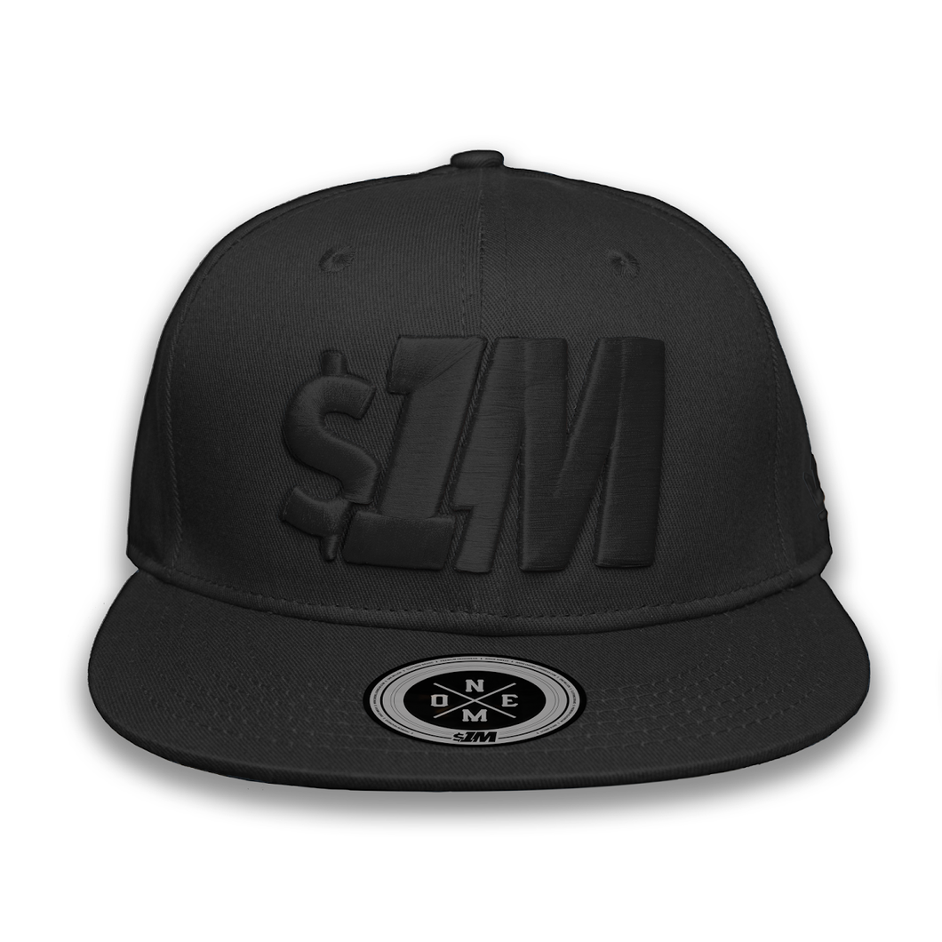$1M Cap Authentic Black/Black