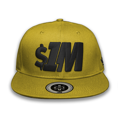 $1M Cap Authentic Gold/Black