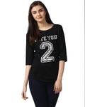 Womens 34U Hateyou2 Printed Black Color Tshirts