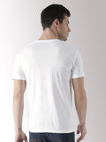 Half Sleeve Complicated Printed White Color Tshirts