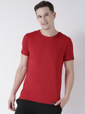 DUO-Half Sleeve Red(Men) Grey(Women) Color Plain Couple Tshirts
