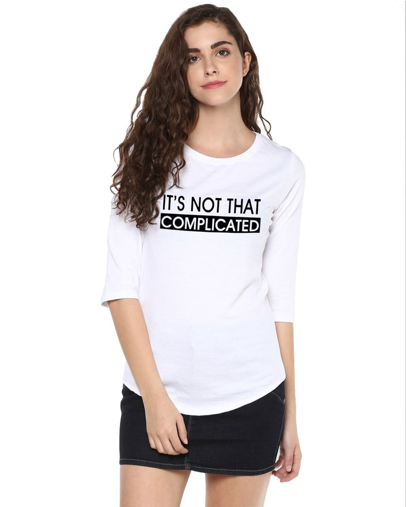 Womens 34U Complicated Printed White Color Tshirts
