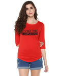 Womens 34U Complicated Printed Red Color Tshirts