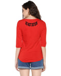 Womens 34U DND Printed Red Color Tshirts