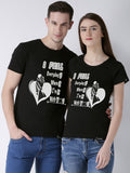 DUO-Half Sleeve Lucky Printed Black Color Couple Tshirts