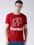 DUO-Half Sleeve Perfect Printed Red Color Couple Tshirts