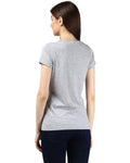 Womens Hs Sochic Printed Grey Color Tshirts