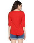 Womens 34U Ifnot Printed Red Color Tshirts