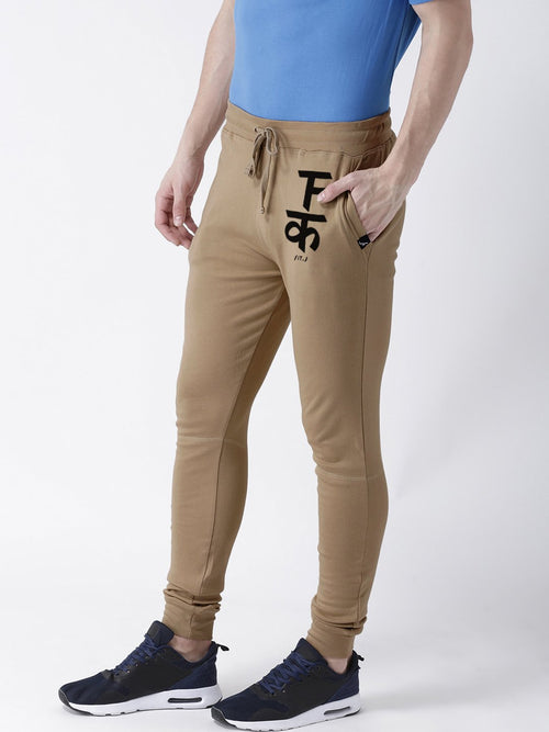 Young Trendz Mens Jogger Brown Color F-IT Printed Track Pants