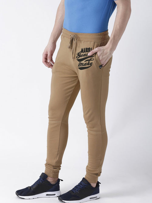 Young Trendz Mens Jogger Brown Color Maker Printed Track Pants