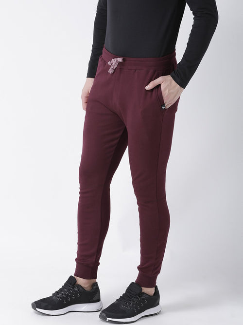 Young Trendz Mens Jogger Maroon Color Solid Track Pants