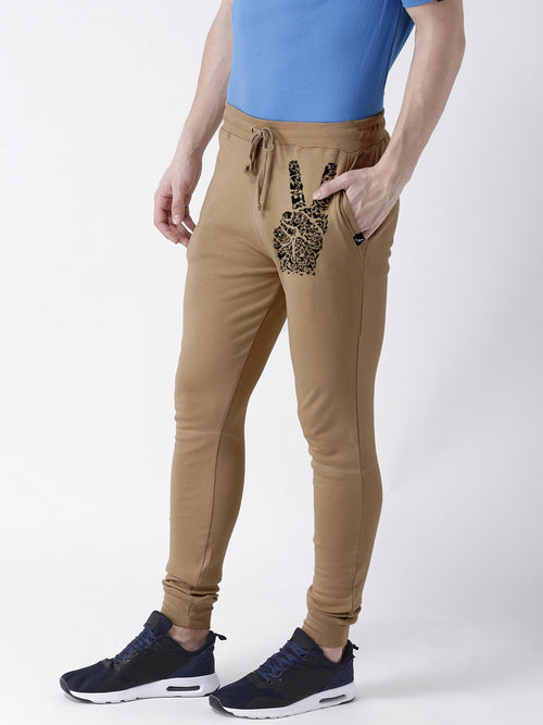 Young Trendz Mens Jogger Brown Color Peace Printed Track Pants