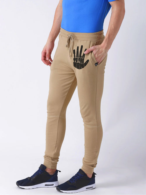 Young Trendz Mens Jogger Brown Color Talk Printed Track Pants