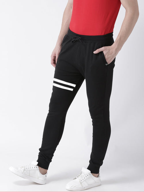 Young Trendz Mens Jogger Black Color Lines Track Pants