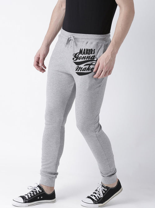 Young Trendz Mens Jogger Grey Color Maker Printed Track Pants