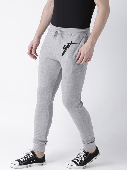 Young Trendz Mens Jogger Grey Color YT Printed Track Pants