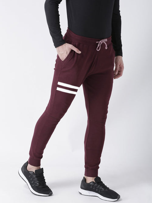 Young Trendz Mens Jogger Maroon Color Lines Track Pants