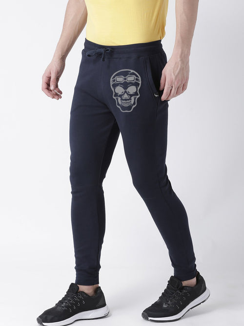 Young Trendz Mens Jogger Navy Color Skull Printed Track Pants