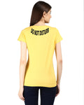 Womens Half Sleeve DND Printed Yellow Color Tshirts