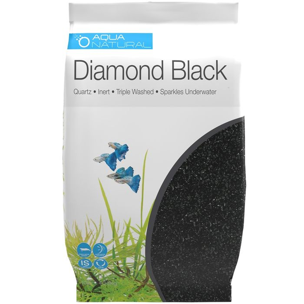 Diamond Black Aquarium Gravel 2kg