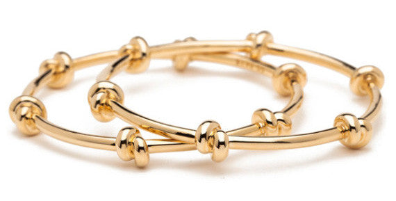 Love Knot Bangles in Gold