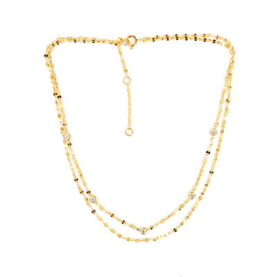 Aurora Double Chain Choker Necklace