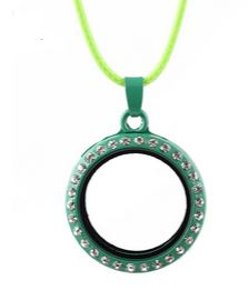 Round Green Crystal Magnetic Rim 30mm