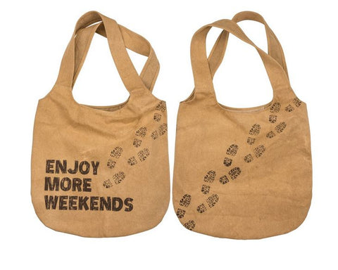 Enjoy More Weekends Market Canvas Bag