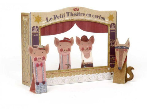 Londji Piggies Finger Puppets Theater - 5 Pcs