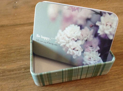 Medium - Be Happy Tin Box