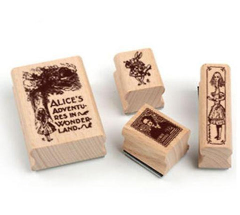 Rubber Stamps - Alice in Wonderland - Set 2