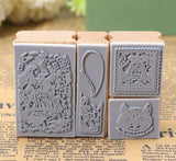 Rubber Stamps - Alice in Wonderland - Set 3