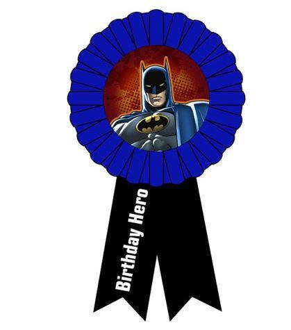 Batman Birthday Hero Ribbon