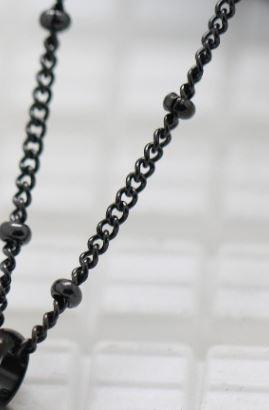 "Black 24"" Ball Link Chain"