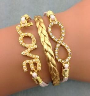 Bling Love Bracelet, Gold