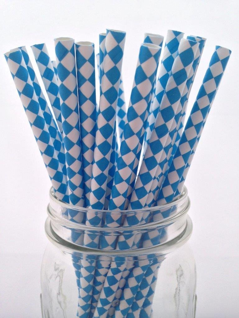 Blue Diamond Paper Straws 25pack