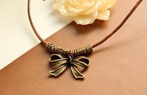 Bow Necklace - Rope Chain