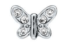 Butterfly Crystal - Silver