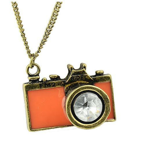 Camera Necklace - Glazed Pink