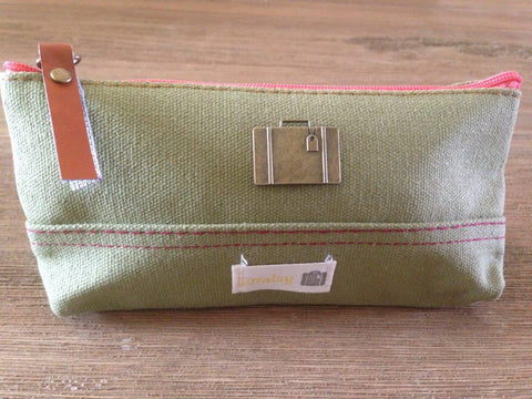Canvas Baisoo Green, Travel Bag