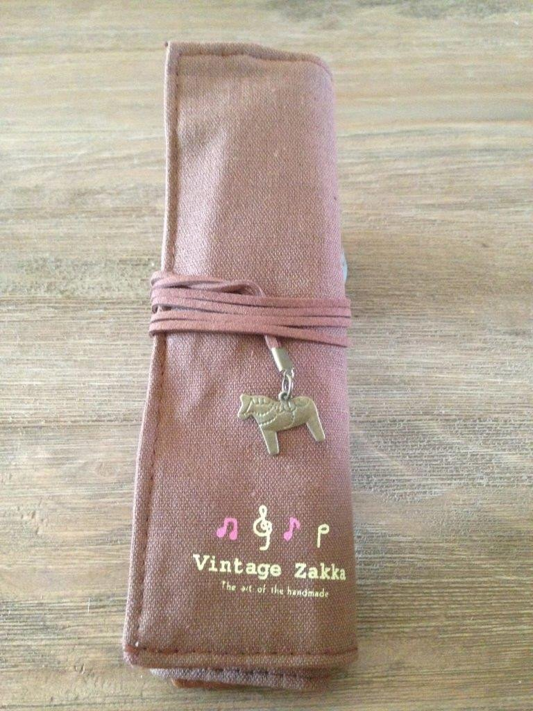 Canvas Zakka Makeup Bag Brown