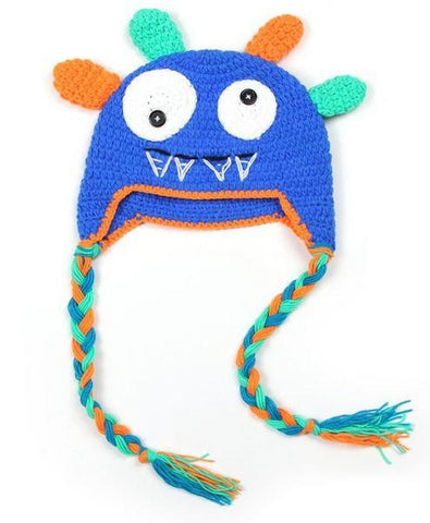 Crochet Hats - Blue Monster
