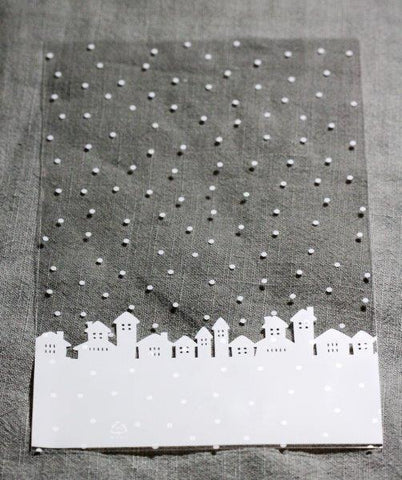 Decorative Cute Bags - Snow Print, 10