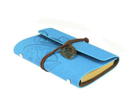 Embossed Wrap Journal - Aqua