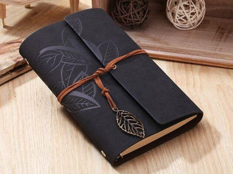 Embossed Wrap Journal - Black