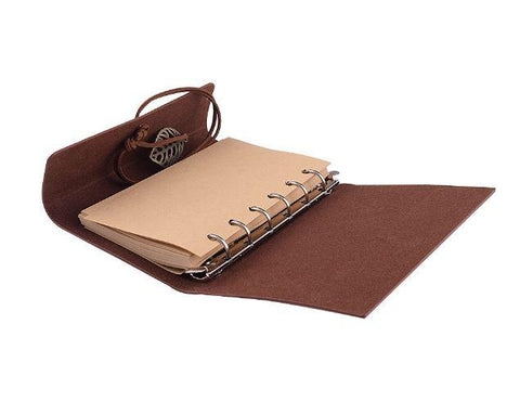 Embossed Wrap Journal - Brown